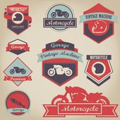 Vintage Motorcycle Label Design — Stock Vector