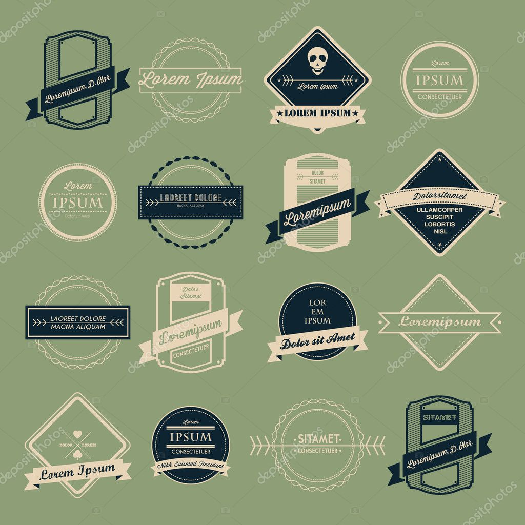 Vintage Logo Vector Se...