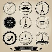 Paris France Vintage Label — Stock Vector
