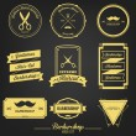 Постер, плакат: Barbershop Premium Vintage Label
