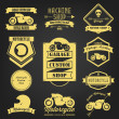 Premium Motorcycle Vintage Label — Stock Vector