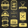 Premium Steak Vintage Label — Stock Vector
