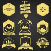 Explorer Adventure Vintage Label — Stock Vector