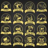 Vintage Hobby Label Set — Stock Vector