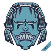 Smiley monstruo de piedra diseño de camisa — Vector de stock