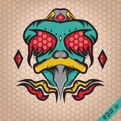 Freak Fly Monster Illustration — Stock Vector