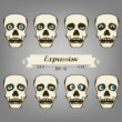 Skeleton Expression — Stock Vector