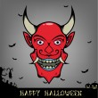 Halloween Evil Red Monster — Stock Vector