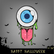 Halloween Eyeball Monster — Stock Vector