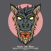 Werewolf — Stock Vector