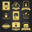Fast Food Vintage Label — Stock Vector