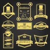 Gentleman Shop Vintage Label — Stock Vector