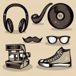 Hipster rzeczy kolekcja — Wektor stockowy  #35091073