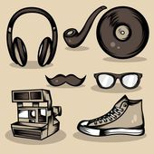 Hipster Stuff Collection — Stock Vector