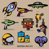 Retro Sci-fi — Stock Vector