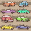 Cartoon Car Collection — Vettoriali Stock