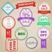 Sale Discount Label — Stock Vector