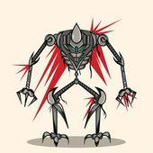 Eksoskleton Robot — Stock Vector