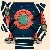 Alien Robot — Stock Vector