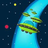 Space War — Stock Vector