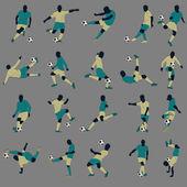 20 Soccer Silhouette — Stock Vector