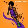 Afro Basketball Player Illustration — Stock Photo #43009729