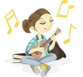 Ukulele Girl Illustration — Stock Photo