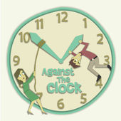 Against the Clock Illustration — Stock Photo