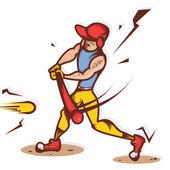 Twardy hitter ilustracja — Zdjęcie stockowe