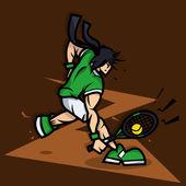 иллюстрации шаржа игрок тенниса — Стоковое фото