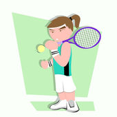 Fun Sport Cartoon Tennis Illustration — Stock Photo