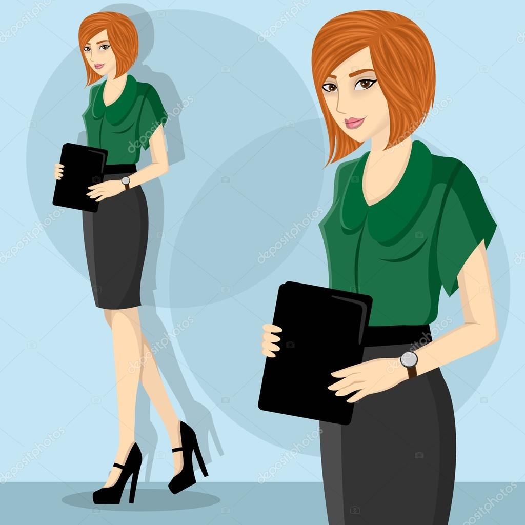 young and pretty career w wearing green blouse illustration young and pretty career w wearing green blouse illustration stock vector 43021479