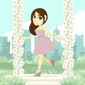 Cute Bridesmaid — Vector de stock