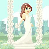 The Beautyful Bride — Wektor stockowy