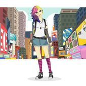 Big City Girl Fashion Style — Stock vektor
