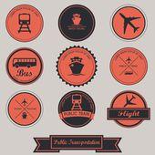 Public Transportation Label Design — Stock Vector