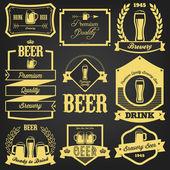 Premium Beer Label Design — Vector de stock