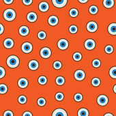 Eyeballs seamless pattern — Vector de stock
