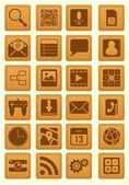 Leather Emboss Smartphone Icon — ストックベクタ