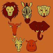 Sfrican Animal Head — Stock Vector