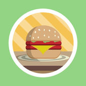 Delicious Cheese Burger Illustration — Stock Photo
