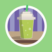 Fresh Green Ice Blend Illustration — Stock Photo