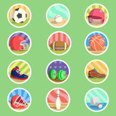 Sport Equipment Flat Icon — Stock Vector