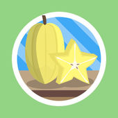 Star fruit carambola — Stock Photo