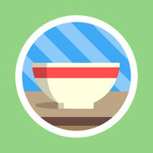 Kitchen Utensil Bowl Flat Design — Stock Photo