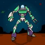 Super War Robot — Stock Vector
