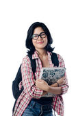 Smart Beauty and Educated Asian College Girl — Stock Photo