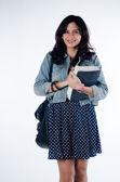 Młoda piękna i inteligentne dziewczynka — Zdjęcie stockowe