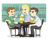 The after work beer time — Stock Vector