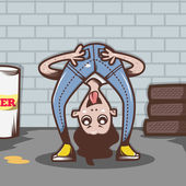 Bad Boy Illustration — Stock Photo